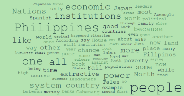 Why is Japan rich and the Philippines poor wordcloud